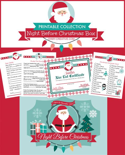 printable christmas eve box whimsy wednesday link party 194 oh my creative