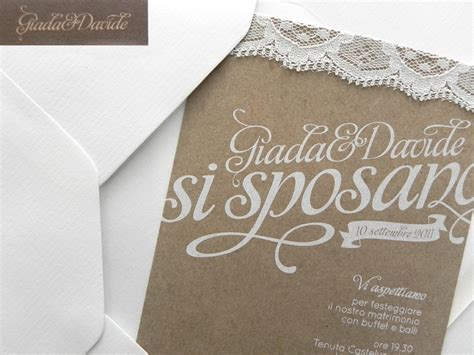 Paper Lace Wedding Invitations by Giada Davide S Kraft Paper And Lace Wedding Invitations