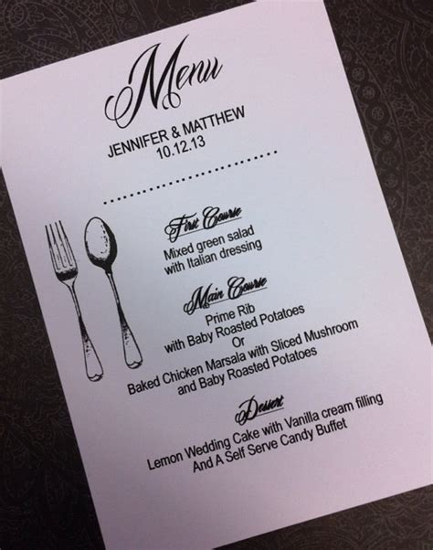 Wedding Anniversary Menu Ideas by Special Occassion Menu Cards Invitations By