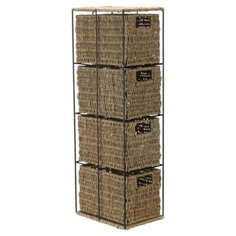 4 drawer storage tower buy tesco seagrass 4 drawer storage tower from our storage