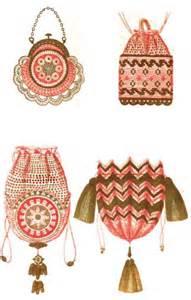 free crocheted beaded bag pattern crochet and knitting