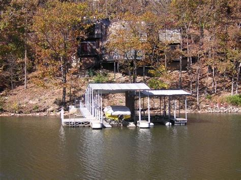 osage house rentals your own 2 well dock with boat lifts and a swim platform