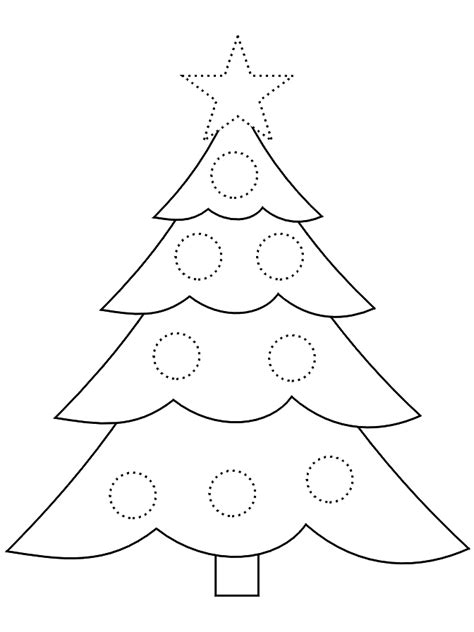 christmas tree pattern to color christmas tree stencil christmas tree coloring page