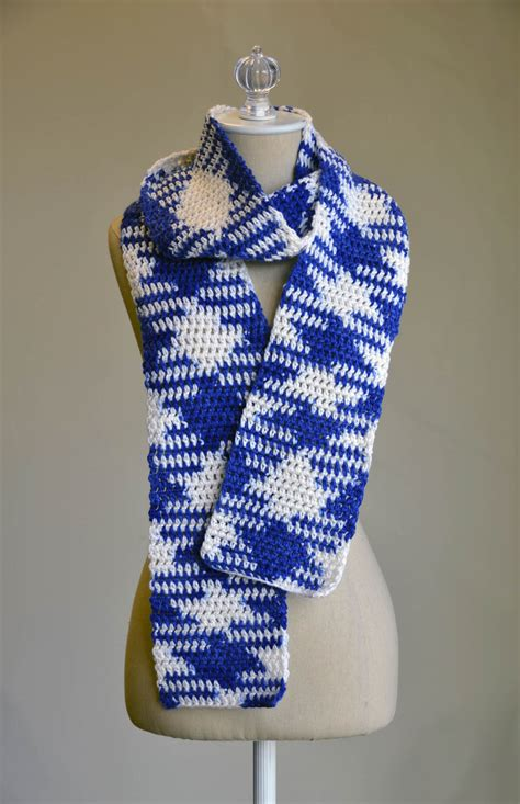 Color Pattern Crochet | two color scarf crochet pattern crochet and knit