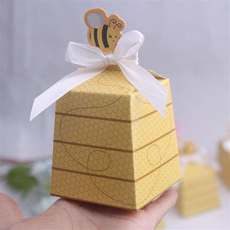 Babybee Toddler Pillow Free 1 free shipping 50pcs honey bee baby shower box birthday favors obsequios wedding