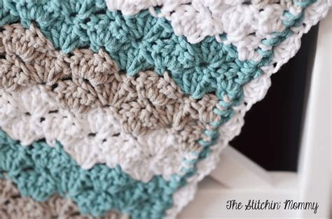 Free Shell Crochet Baby Blanket Pattern by Shell Stitch Baby Blanket Free Pattern