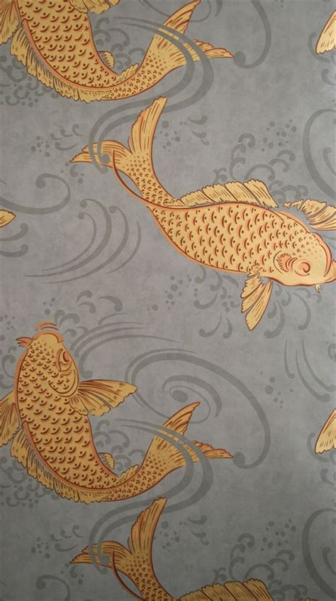 Gold Koi Wallpaper | osborne little w5796 01 i am obsessed with this