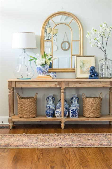 decorate  console table   pro  entry