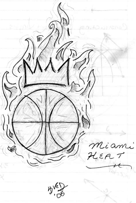 how to draw the heat logo miami heat logo by zzyang on deviantart