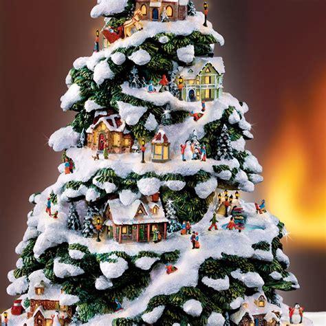 homeade lifesize thinas kinkade christmas tree tree merry and