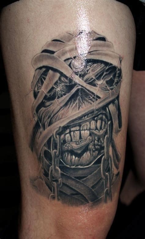 iron maiden tattoos proki studio search black and grey