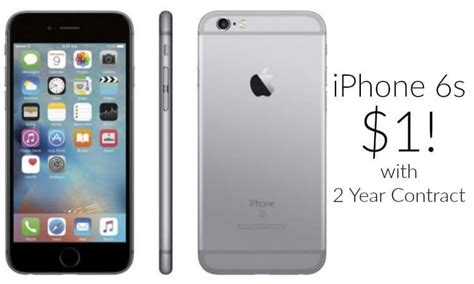 iphone 6s just 1 with 2 year contract arrives by