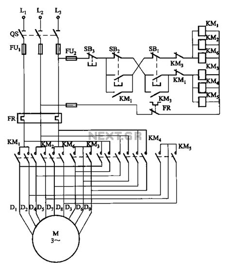 awesome two speed motor starter wiring diagram