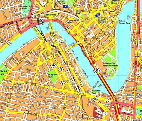 printable map brisbane cbd brisbane street map map of brisbane city streets australia