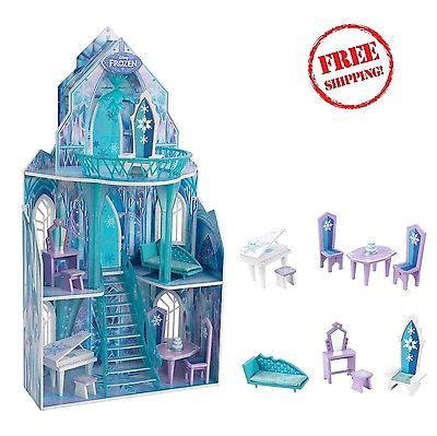 elsa doll house frozen ice castle anna elsa doll house barbie furniture miniature kit 4 rooms what s