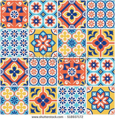 pattern a espanol spanish tile stock images royalty free images vectors