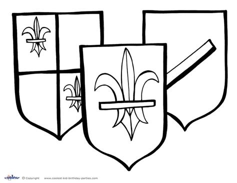 coloring pages knights shields ctr shield printable cliparts co