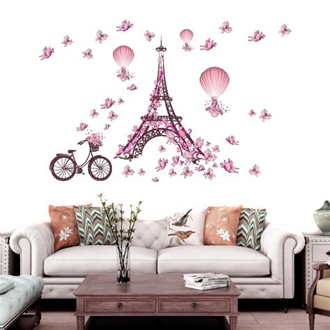 wall sticker home decor removable bedroom eiffel tower decal wall