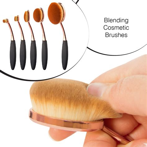 5 Pcs Oval Brush by Drop Shipping Set Of 5 Pcs Oval Makeup Brush Oval