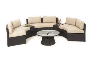 Home moonstone outdoor rattan sofa set