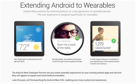 android wear news annuncia android wear nuova versione robottino per i wearable device