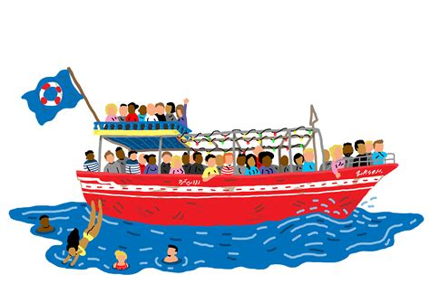 refugee boat tour amsterdam canal clipart boat trip pencil and in color canal