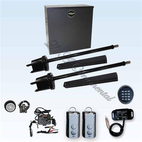 swing gate opener kit apollo 1650 etl dual kit 3 swing gate operator up to 16ft