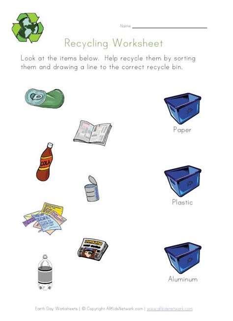 Recycle Worksheets by Reduce Reuse Recycle Worksheets For Kindergarten Earth