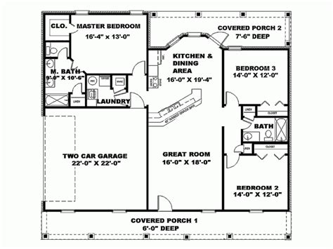 house plans for 1500 sq ft eplans new american house plan open floor plan 1500 square feet and 3 bedrooms