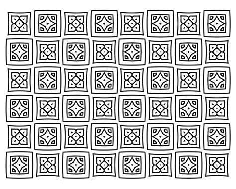 free square quilt pattern coloring page free