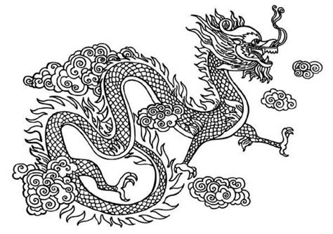 abstract dragon coloring page chinese snake dragon coloring page free printable