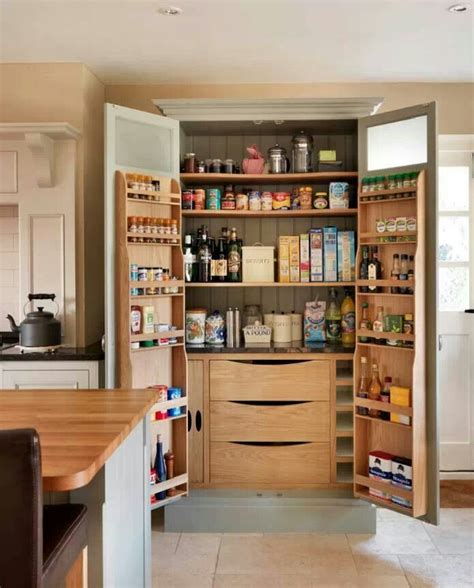 kitchen pantry with door storage organization