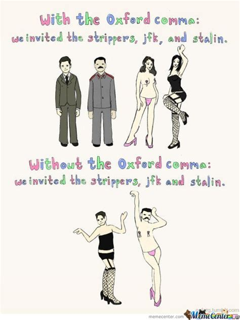 Oxford Comma Meme - using commas like a winner eve proofreads