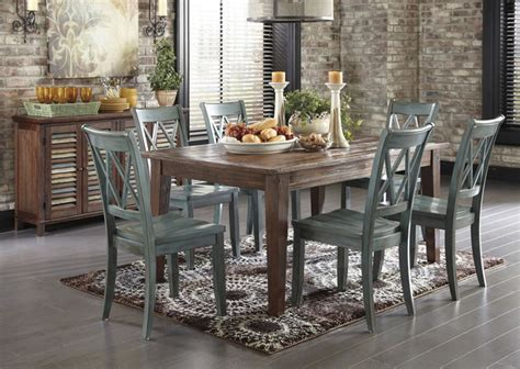 Rustic Dining Room Furniture Mestler Dining Table With 6 Chairs And Sideboard Rustic Dining Room By