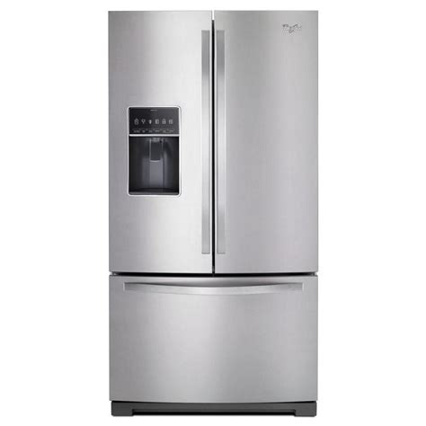 Reviews On Kitchen Faucets whirlpool 36 in w 26 8 cu ft french door refrigerator
