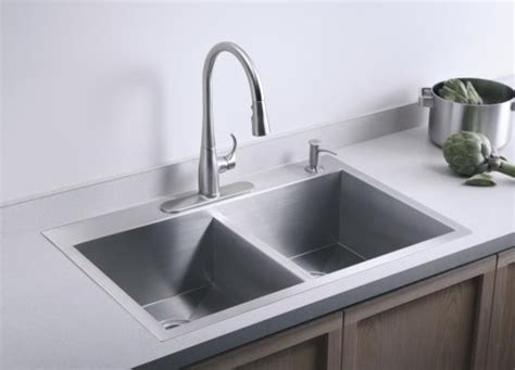 double sinks for kitchen double basin kohler kitchen sink contemporary kitchen