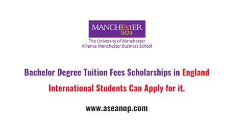 Manchester Mba Tuition Fees by Bachelor Degree Tuition Fees Scholarships At Manchester