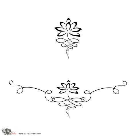balance tattoo design of lotus lower back balance