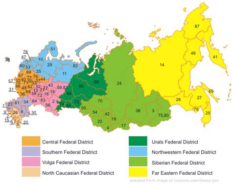 russia map states why foreign investment in russia s regions is falling