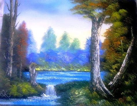 bob ross painting lake tranquil lake painting by fineartist