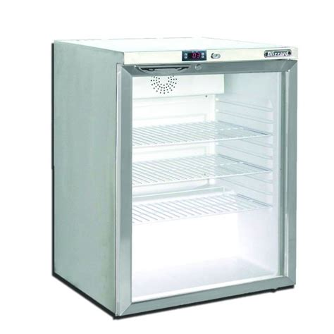 Glass Door Fridge Freezer Blizzard Ucf140cr 0 6m Glass Door Undercounter Freezer Display Freezers Corr Chilled