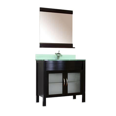 Modern Bathroom Glass Vanities Alya Bath Elite Collection Aw 082 36 E Single Modern