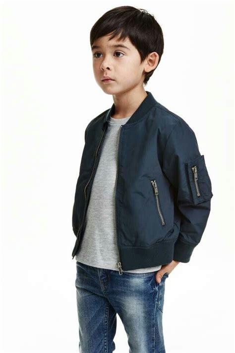 0344 Hem Winter Boy blue bomber jacket kid boy h m kiddy kid blue bomber jacket and boys