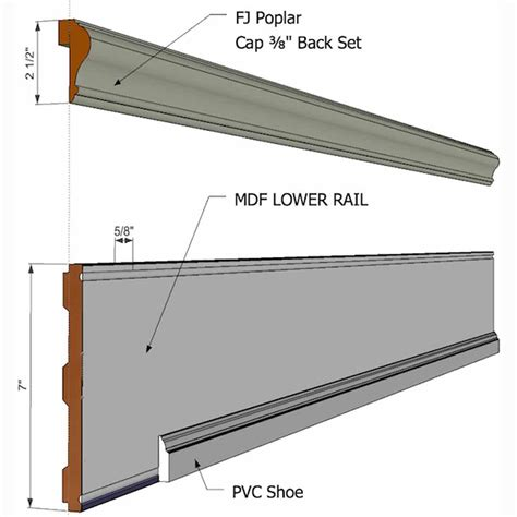 beadboard cap elite trimworks corp bb rails pg beadboard rail pack for
