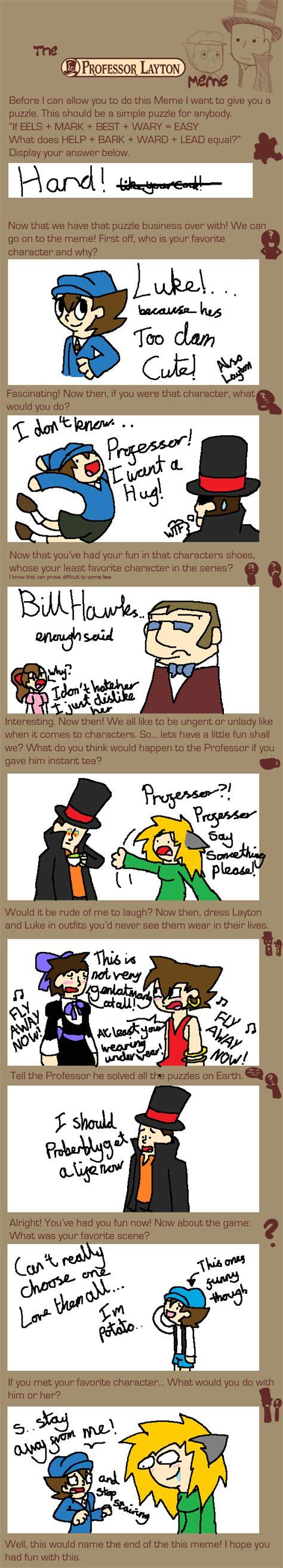 Professor Layton Meme - a professor layton meme read description by