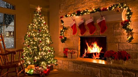 christmas scene christmas fireplace christmas tree