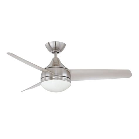 3 blade ceiling fan no light shop kendal lighting moderno 42 in satin nickel downrod