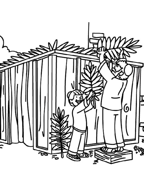 sukkot coloring pages building a sukkah coloring page crayola