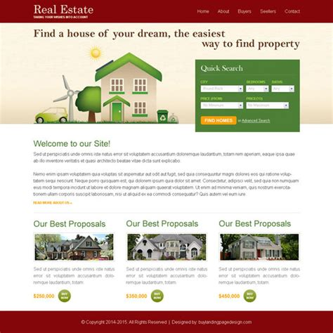 real estate search clean and user friendly website
