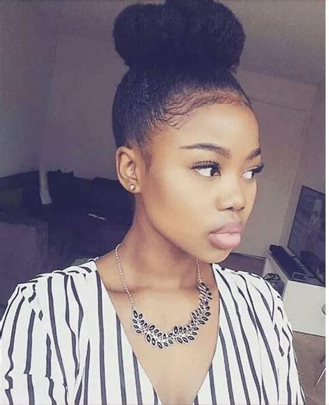 High Bun Hairstyles For Black Hair by Bun Hairstyles For Hair Www Pixshark
